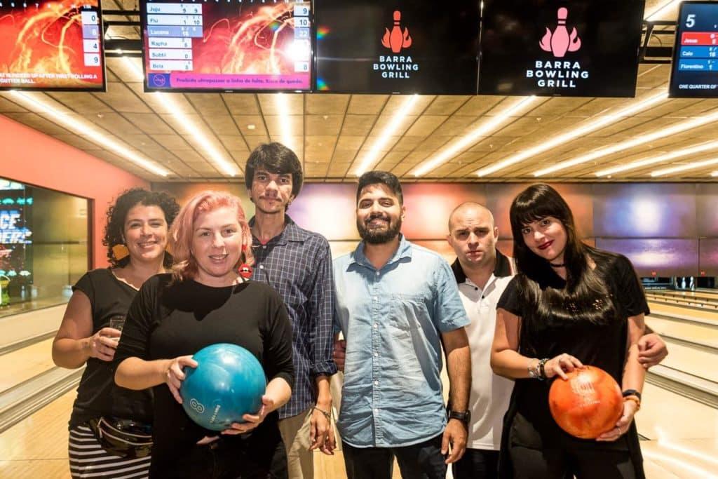 Equipe Diário do Rio no Barra Bowling