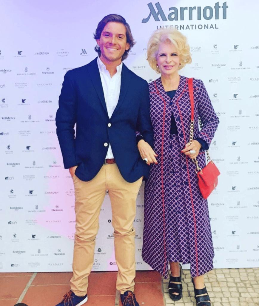 O advogado Xavier GR Guerra com a jet-setter portuguesa de Cascais Lili Caneças, uma das figuras mais populares de Portugal