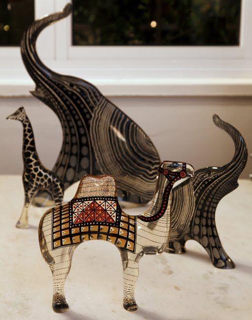 Animais em Resina de Abraham Palatnik, que são sua obra mais acessível.